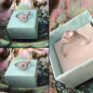 Pretty Girl Swag Jewelry Jewelry - Exquisite Princess Cut White Pink Ring